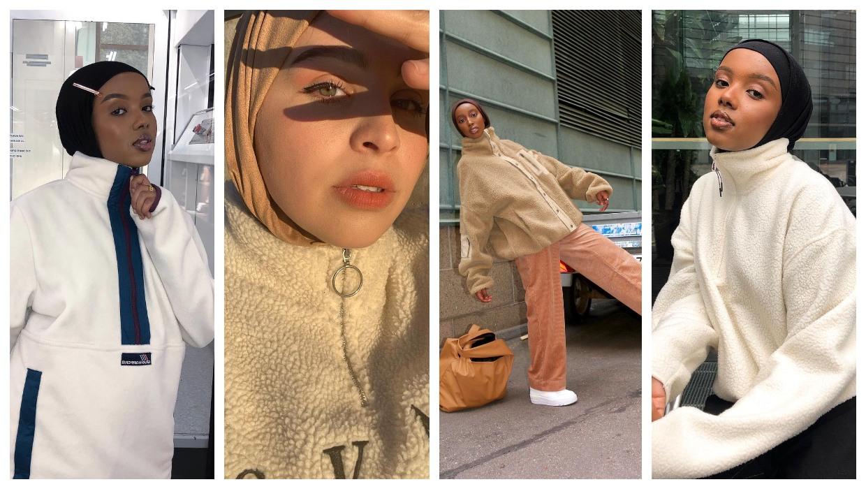 how to style fleece jackets with hijab